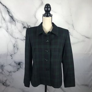 PENDLETON 💯virgin wool plaid blazer jacket